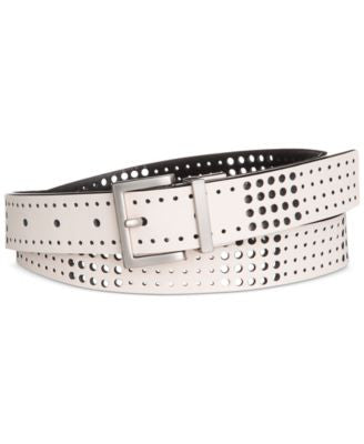 Calvin Klein Perforated Reversible Leather Belt