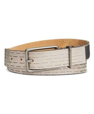 Calvin Klein Sliced Perforated Pant Belt