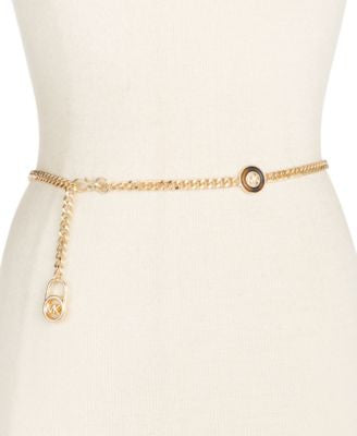 MICHAEL Michael Kors Gold-Tone with Faux Tortoise Links Chain Belt