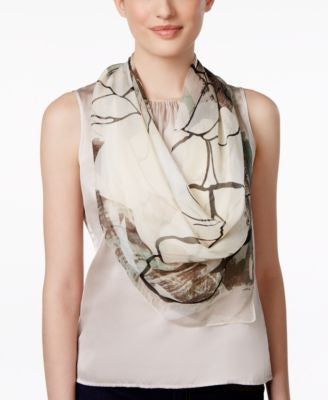 Vince Camuto Bloom Collage Square Scarf
