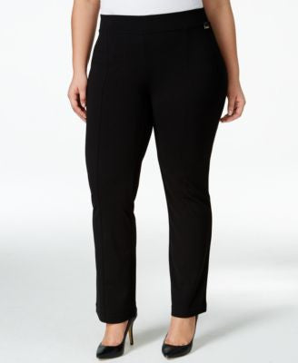 Calvin Klein Plus Size Straight-Leg Pull-On Pants