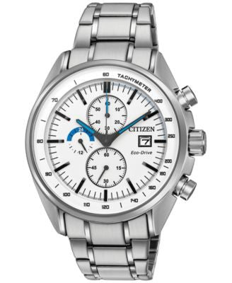 Citizen Men's Chronograph Eco-Drive Stainless Steel Bracelet Watch 44mm CA0590-82A