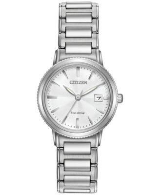 Citizen Women's Eco-Drive Stainless Steel Bracelet Watch 27mm EW2370-57A
