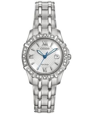 Citizen Women's Eco-Drive Diamond Accent Stainless Steel Bracelet Watch 26mm EW2360-51A