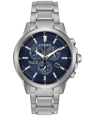 Citizen Men's Chronograph Eco-Drive Stainless Steel Bracelet Watch 42mm AT2340-56L
