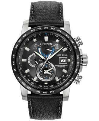Citizen Men's Eco-Drive Black Strap Watch 44mm AT9071-07E