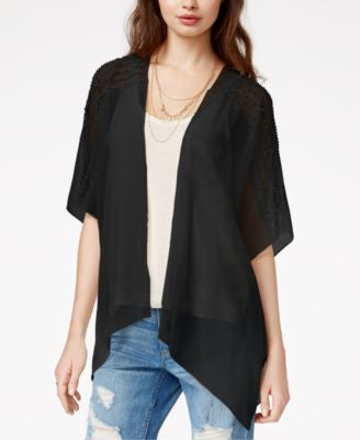 Collection XIIX Sequin Stripe Panel Kimono