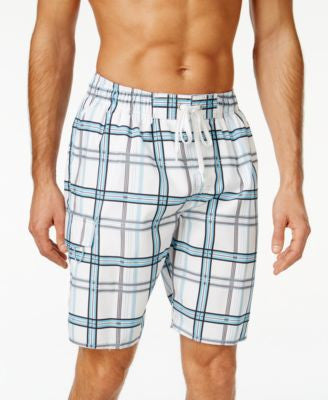Newport Blue Big and Tall Backside Plaid Swim Trunks