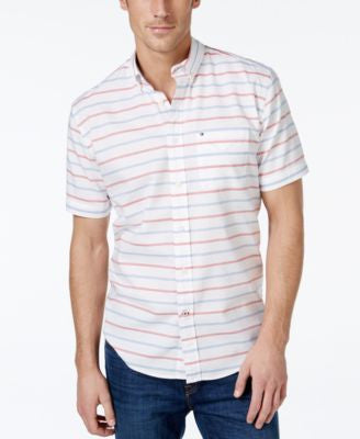 Tommy Hilfiger Malcom Horizontal-Stripe Short-Sleeve Shirt