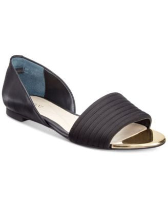 Alfani Women's Isszee Open-Toe Flats, Only at Vogily