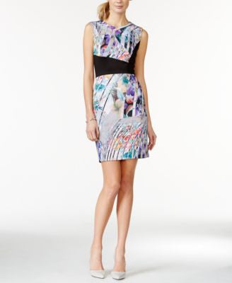 Betsey Johnson Printed Scuba Bodycon Dress
