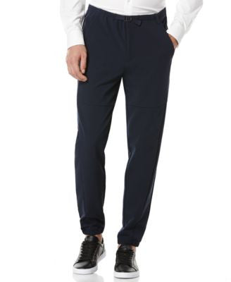 Perry Ellis Active Belted-Waist Jogger Pants