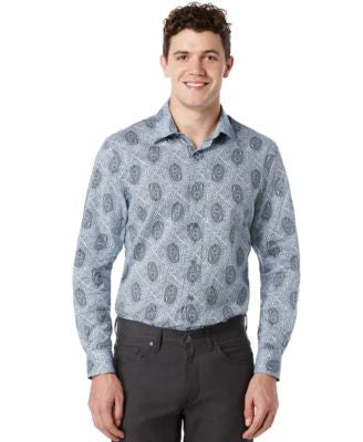 Perry Ellis Geometric Paisley Button-Front Shirt
