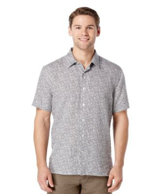 Perry Ellis Big and Tall Paisley Short-Sleeve Shirt
