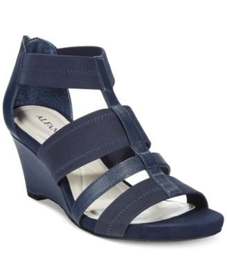 Alfani Women's Mavenn Wedge Gladiator Sandals, Only at Vogily