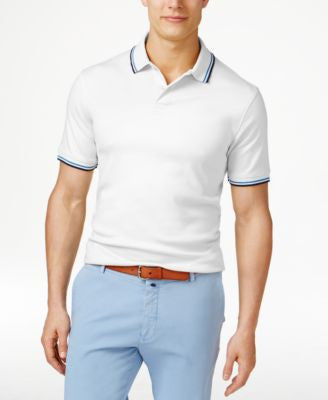 Club Room Men's Interlock Tipped Polo, Only at Vogily