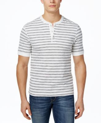 Club Room Men's Big & Tall Striped Henley, Only at Vogily