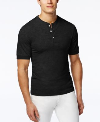 Club Room Men's Big & Tall Solid Slub Henley, Only at Vogily