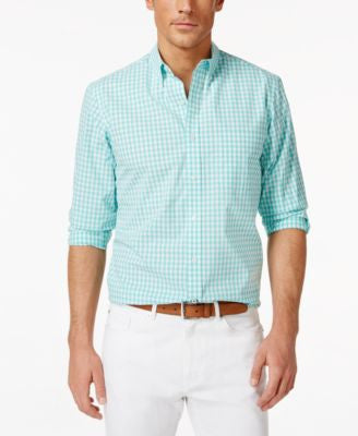 Club Room Gingham Long-Sleeve Shirt, Classic Fit