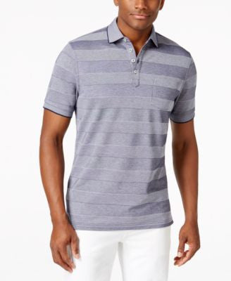 Club Room Men's Big and Tall Short-Sleeve Eastham Birdseye Polo, Only at Vogily