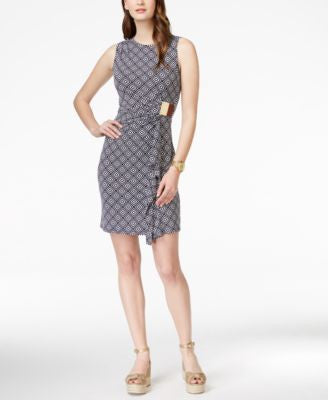 MICHAEL Michael Kors Printed Sleeveless Wrap Dress