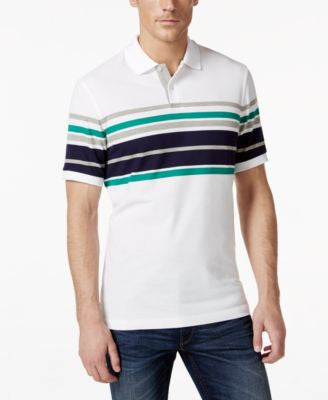 Club Room Performance UV Protection Multi Striped Polo, Only at Vogily