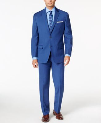 Sean John Men's Medium Blue Classic-Fit Suit Separates