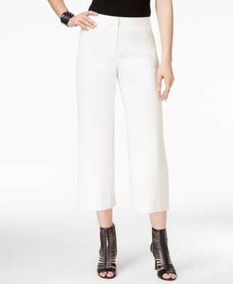 Vince Camuto Cropped Straight-Leg Trousers
