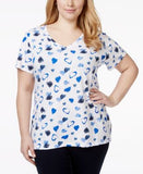 Style & Co. Sport Plus Size Heart-Print T-Shirt, Only at Vogily