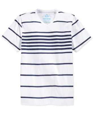 American Rag Men's Highlight Stripe V-Neck T-Shirt, Only at Vogily
