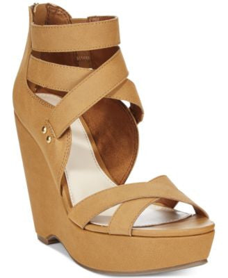 Bar III Samara Platform Wedge Sandals, Only at Vogily