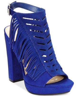 Bar III Nero Fringe Dress Sandals, Only at Vogily