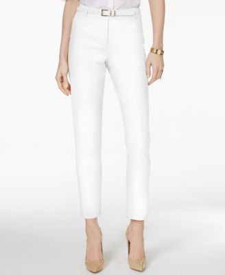 Charter Club Belted Tummy-Control Slim-Leg Pants, Only at Vogily