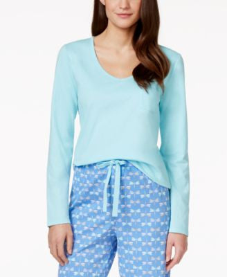 Charter Club Long-Sleeve Pajama Top, Only at Vogily