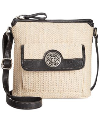 Giani Bernini Filigree Straw Crossbody