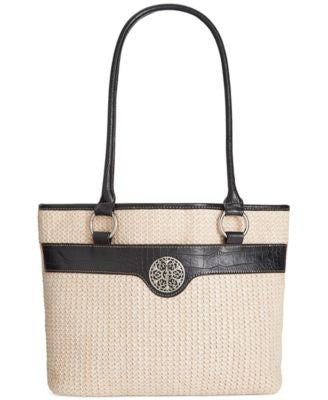 Giani Bernini Filigree Straw Tote