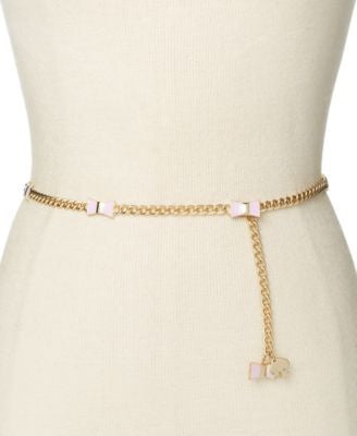 kate spade new york Enamel Bow and Chain Belt