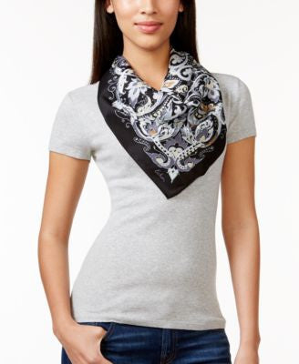 Echo Sea Wave Paisley Silk Square Scarf