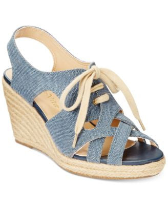 Bella Vita Gracia Lace-up Wedge Sandals
