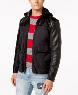 INC International Concepts Men's Foley Nylon Bomber Jacket, Only at Vogily