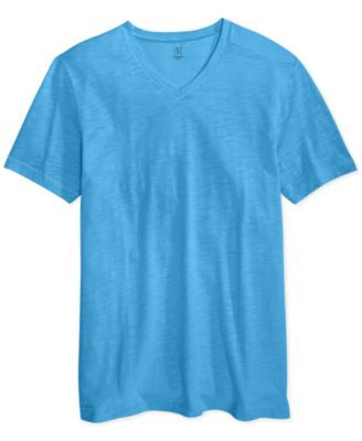 INC International Concepts Men's Contrast-Stitch V-Neck T-Shirt, Only at Vogily