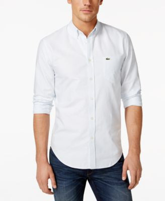 Lacoste Striped Oxford Button-Down Shirt