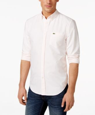 Lacoste Core Striped Oxford Button-Down Shirt