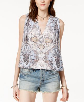 Free People Darcy Printed High-Low Top