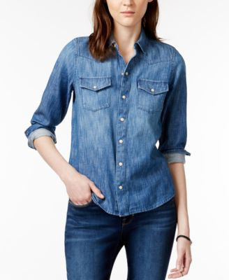 Lucky Brand Western Long-Sleeve Denim Shirt