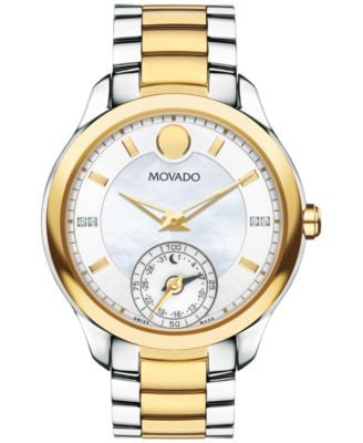 Movado Women's Swiss Bellina Motion Diamond Accent Two-Tone PVD Stainless Steel Bracelet Smartwatch