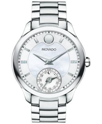 Movado Women's Swiss Bellina Motion Diamond Accent Stainless Steel Bracelet Smartwatch 39mm 0660004