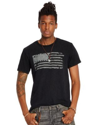 Denim & Supply Ralph Lauren Men's Slub Jersey Flag-Graphic Tee