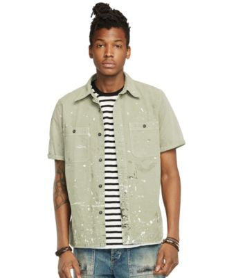 Denim & Supply Ralph Lauren Men's Short-Sleeve Sport Shirt