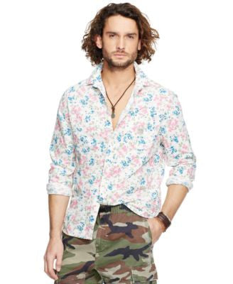 Denim & Supply Ralph Lauren Men's Floral-Print Cotton Shirt